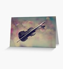Violin Texturized Greeting Card