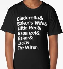 Into the Woods Characters | White Long T-Shirt
