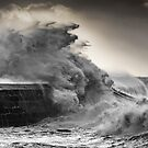 Waves Pounding The Cob by SWEEPER