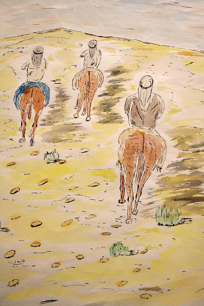 Riding on the desert. by zangi12