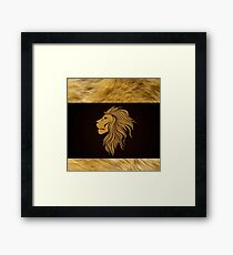 Zodiac Lion House Lannister Game of Thrones Framed Print