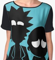 Rick and Morty in Blue Women's Chiffon Top