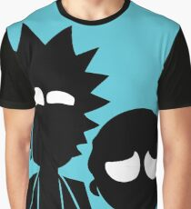 Rick and Morty in Blue Graphic T-Shirt