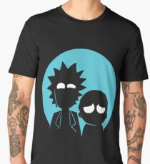Rick and Morty in Blue Men's Premium T-Shirt