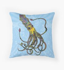 Electric Squid Throw Pillow