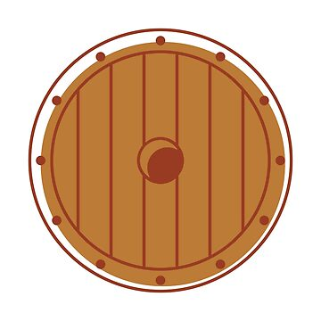 Wooden Shield Viking Warrior Style by Krukowski