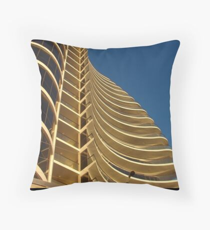 Wavy accommodation Throw Pillow