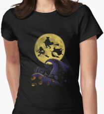 Witchy Moon Women's Fitted T-Shirt