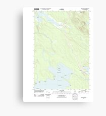 Maine USGS Historical Map Brookton 20110829 TM Canvas Print