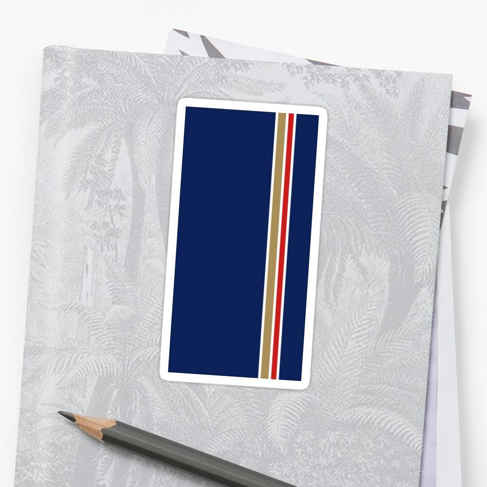 Rothmans Stripe Vertical Sticker