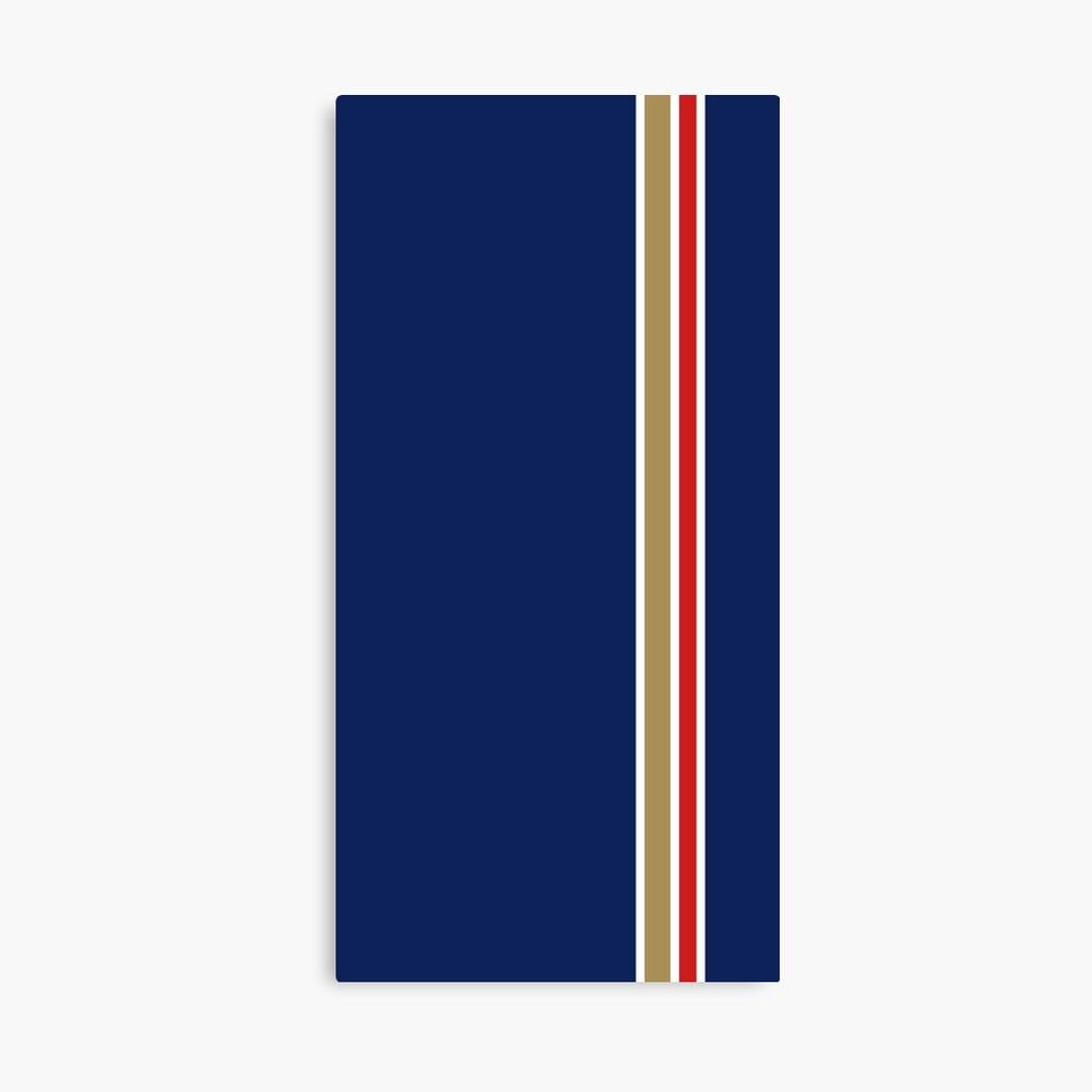 Rothmans Stripe Vertical Canvas Print