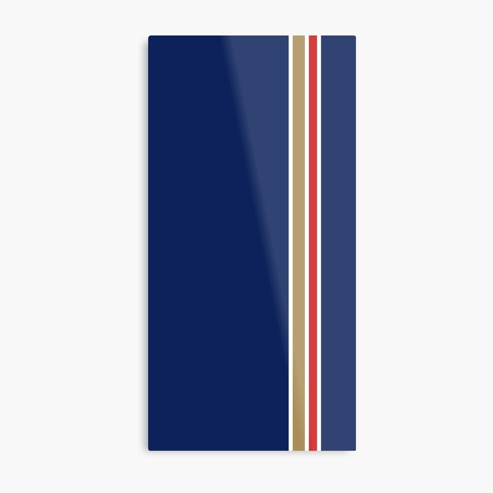 Rothmans Stripe Vertical Metal Print