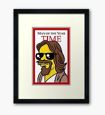 Dude of the year parody. Framed Print