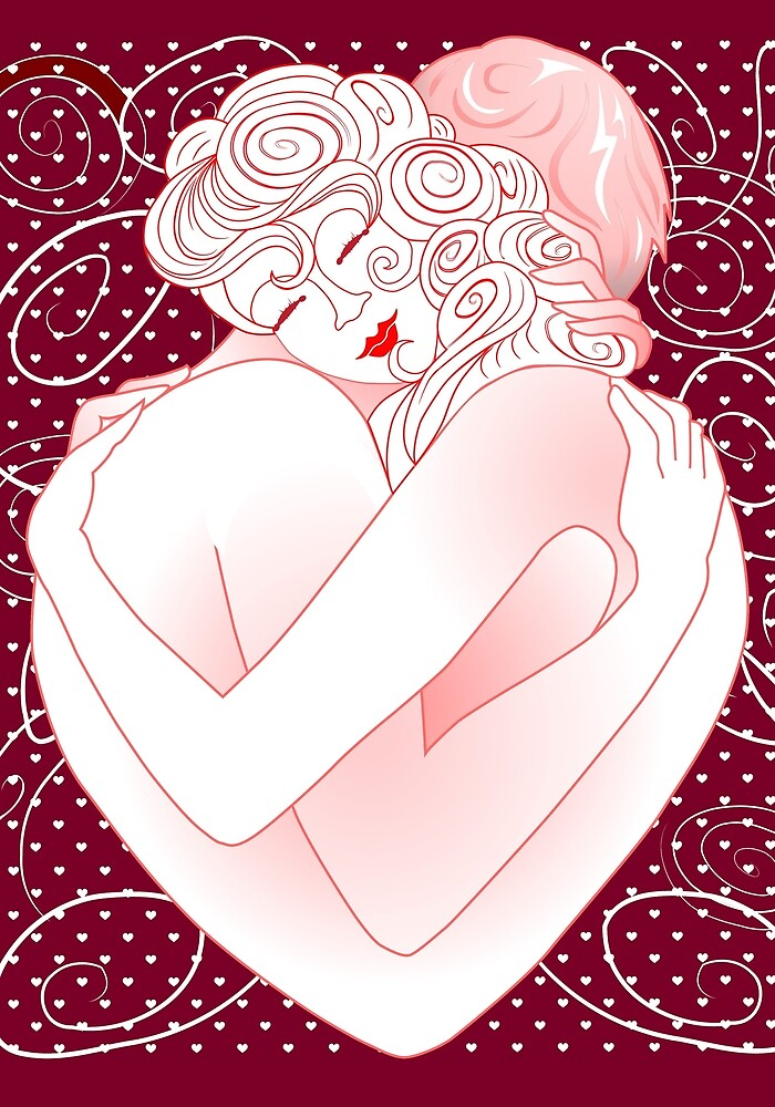 Love embrace by MEDUSA GraphicART