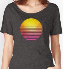 Eighties symbol retro sun Women's Relaxed Fit T-Shirt