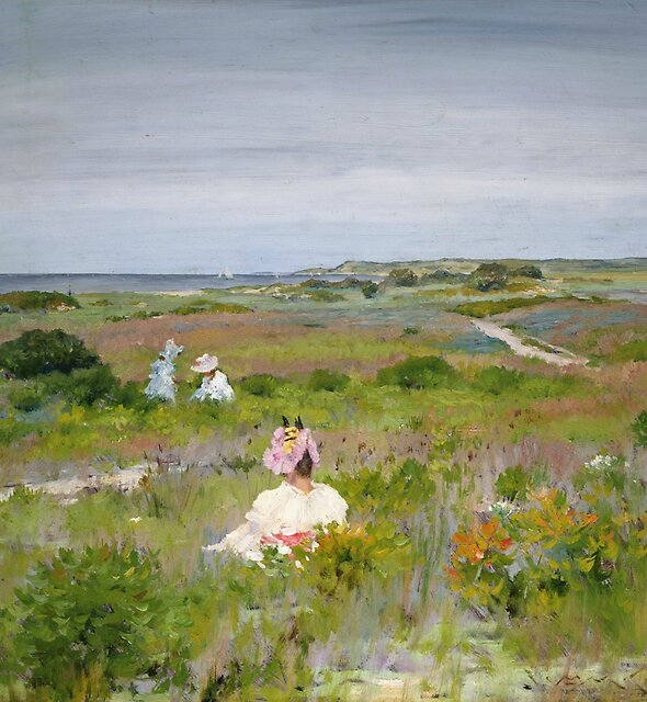 Landscape - Shinnecock, Long Island by William Merritt Chase by classicartcache