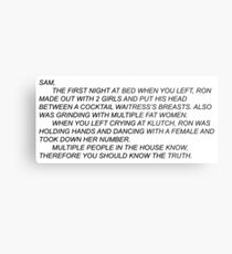 Anonymous Letter to Sammi Metal Print