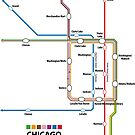 CHICAGO Loop Map by UrbanRail