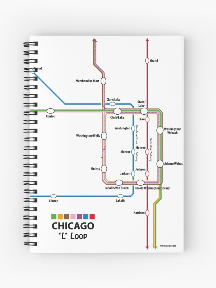 CHICAGO Loop Map | Spiral Notebook on lincoln park, grant park, downtown chicago map, trump international hotel and tower, south chicago, chicago transit maps, east side, millennium park, chicago map glenview, navy pier, edgewater chicago map, willis tower, cook county map, chicago transit authority, lincoln park map, chicago subway map, hyde park map, chicago streeterville map, grant park map, chicago tourist map, chicago museum map, logan square, chicago street map, magnificent mile, university of chicago, chicago union station map, chicago on the map, hyde park, michigan avenue map, magnificent mile map, wabash and wacker chicago map, blue line stops chicago map,