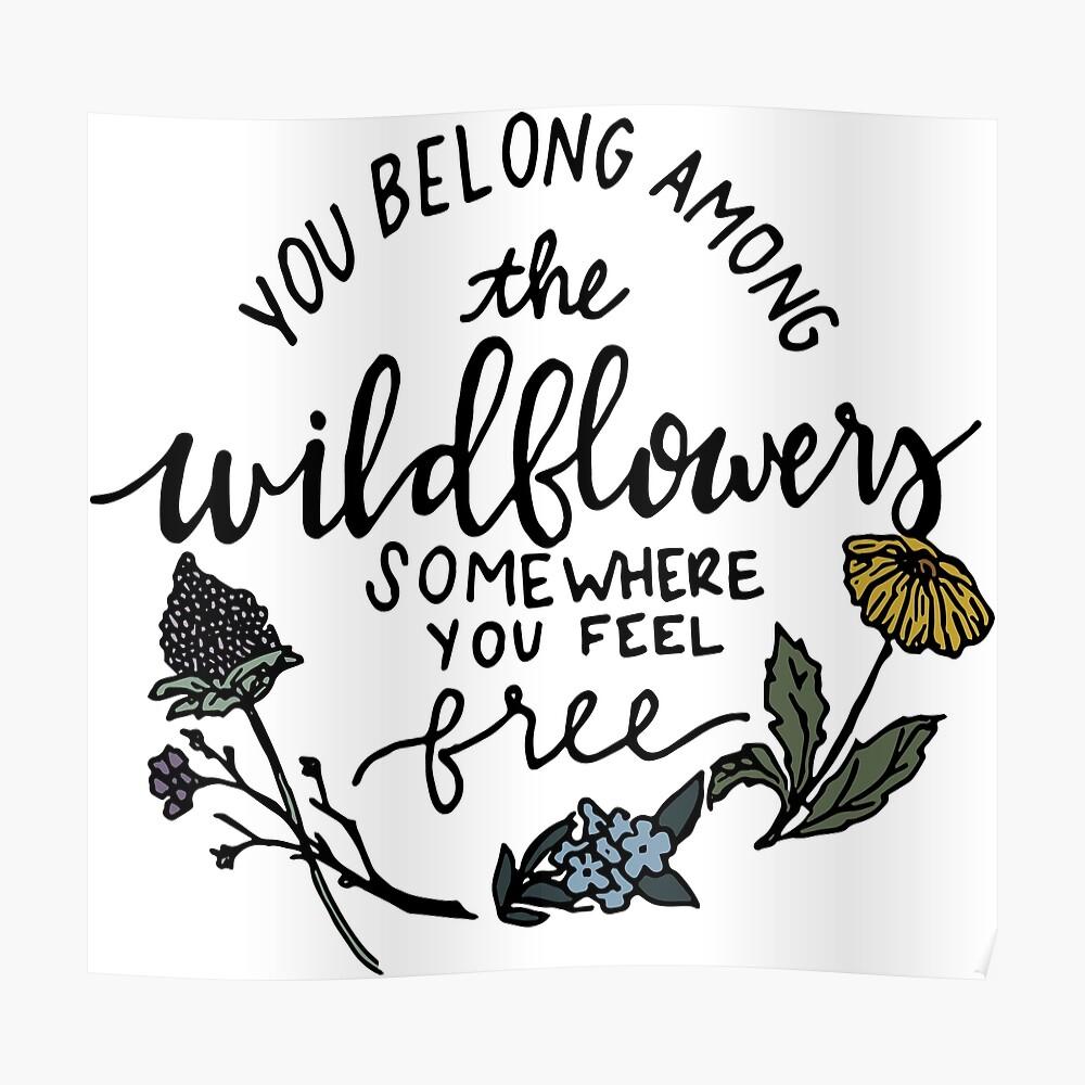 Unter den Wildblumen Poster