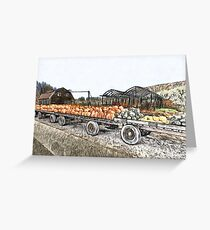 Harvest Flatbed Greeting Card