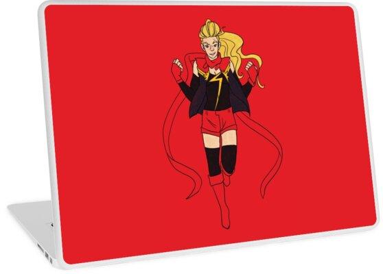 'Carol Danvers' Laptop Skin by dr-kara