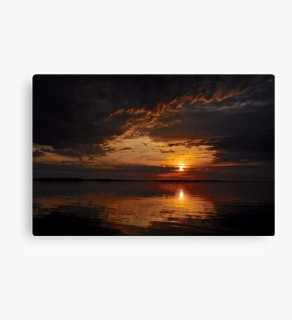 A Mysterious sunset Canvas Print