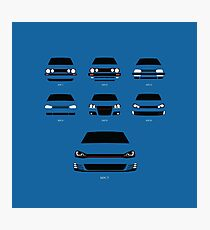 Hot Hatch Generations Photographic Print