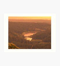 dams hills water Art Print