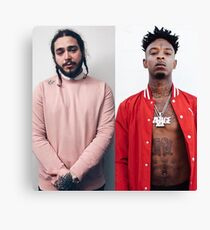 post malone and 21 savage Canvas Print