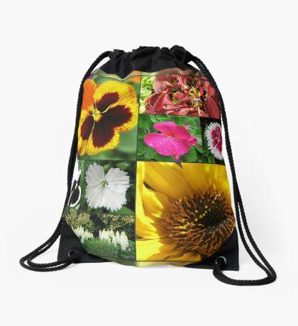 Spätsommer-Blumen-Collage Turnbeutel