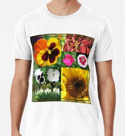 Spätsommer-Blumen-Collage Premium T-Shirt