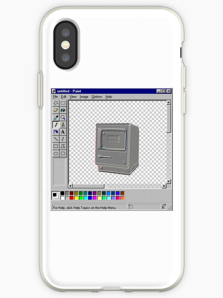 'MS PAINT 98 MAC' iPhone Case by Sonny-Izk