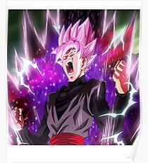 Goku Black Super god Rose Poster