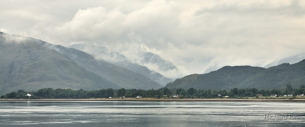 Loch Linnhe and Kingairloch - Misty Morning by Richard Ion