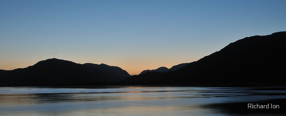 Evening light over Loch Linnhe - 2 by Richard Ion