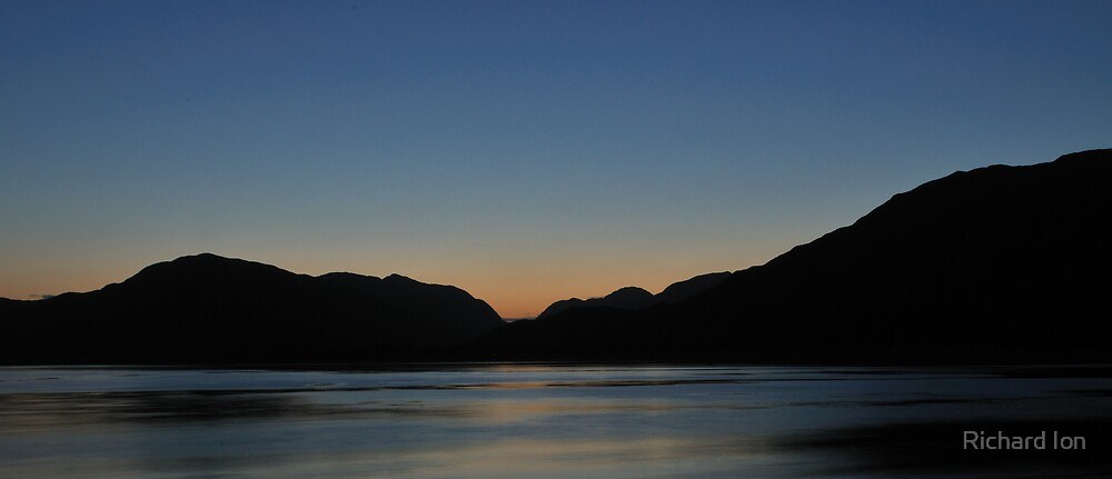 Evening light over Loch Linnhe - 3 by Richard Ion