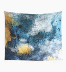 Abstract Navy and Gold Wall Tapestry