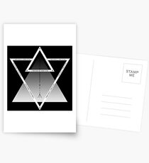 Nummerierte Dreiecke Postkarten