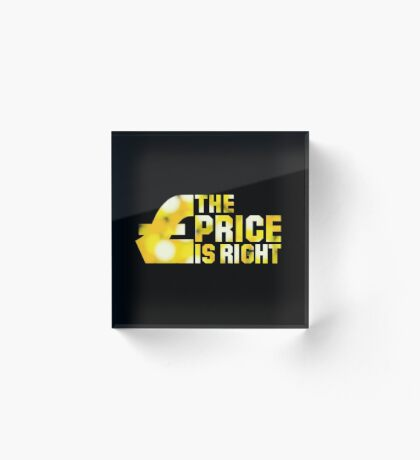 NDVH The Price Is Right Acrylic Block