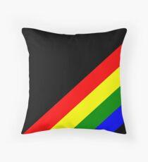 Spectral stripes Throw Pillow