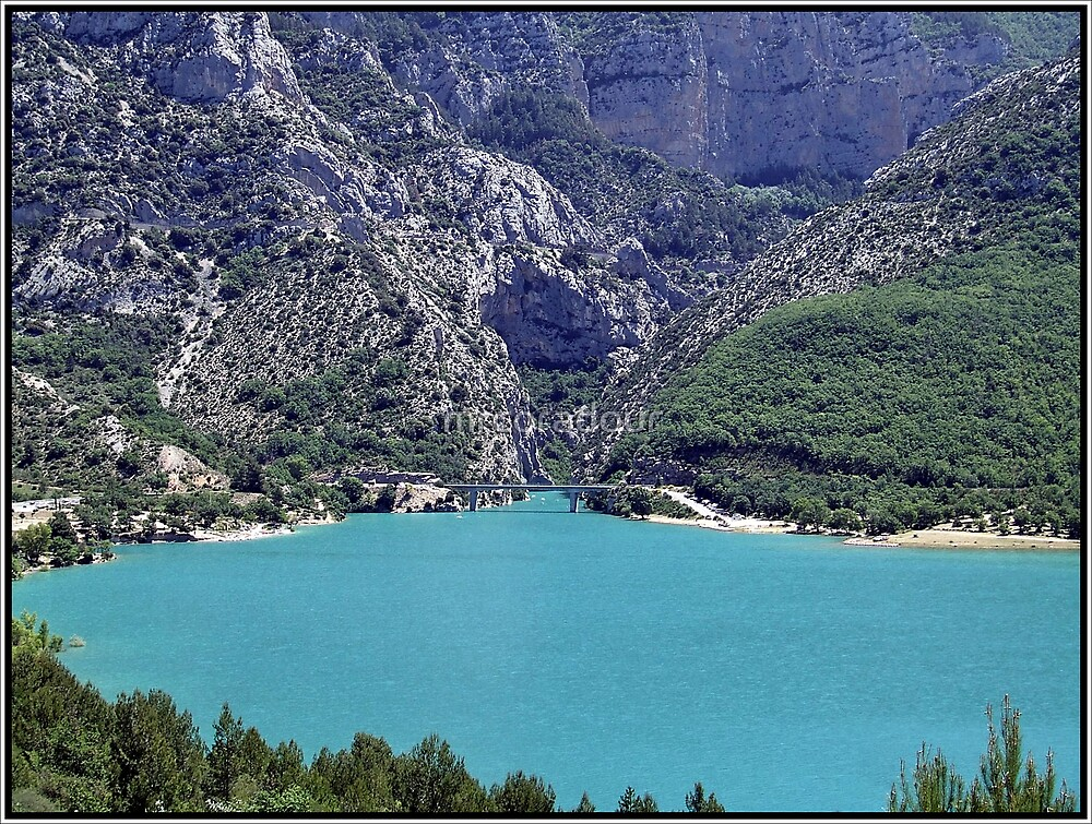 Entrance to the Great Verdon Gorge, Provence France by Malcolm Chant