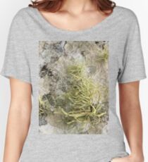 Lichen on tomb in Shalwy Valley, Kilcar, Donegal Women's Relaxed Fit T-Shirt