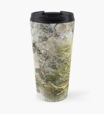 Lichen on tomb in Shalwy Valley, Kilcar, Donegal Travel Mug