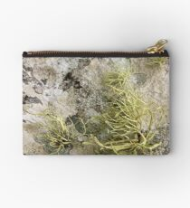 Lichen on tomb in Shalwy Valley, Kilcar, Donegal Studio Pouch