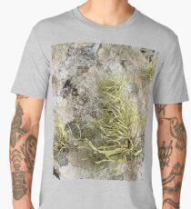 Lichen on tomb in Shalwy Valley, Kilcar, Donegal Men's Premium T-Shirt