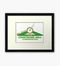 The Courthouse Mall Framed Print