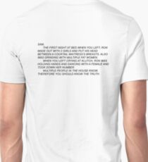 Anonymous Letter to Sammi Unisex T-Shirt
