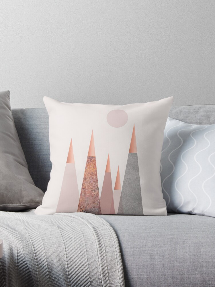Blush and Copper Mountain Tops by UrbanEpiphany