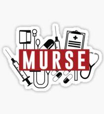 Murse Male Nurse Mursing Man Nurse Sticker